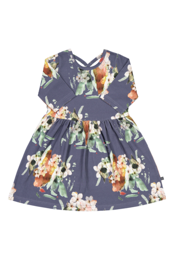 KAIKO CROSS DRESS 3/4SL, BLUE BLOSSOM
