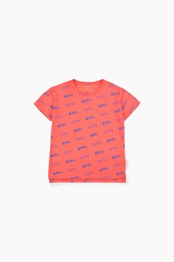 TINY COTTONS, BFFS SS TEE, RED/MARINE