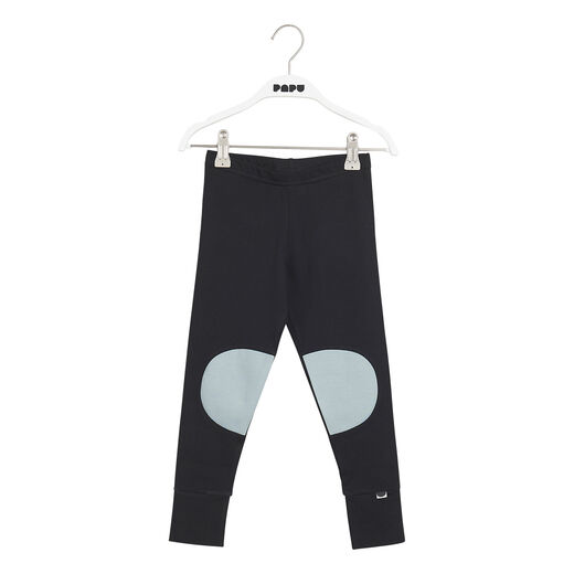PAPU PATCH LEGGINGS, MUTED GREEN, BLACK