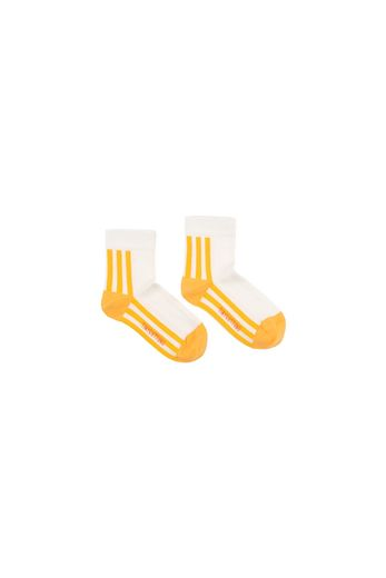 TINY COTTONS, STRIPE QUARTER SOCKS, YELLOW